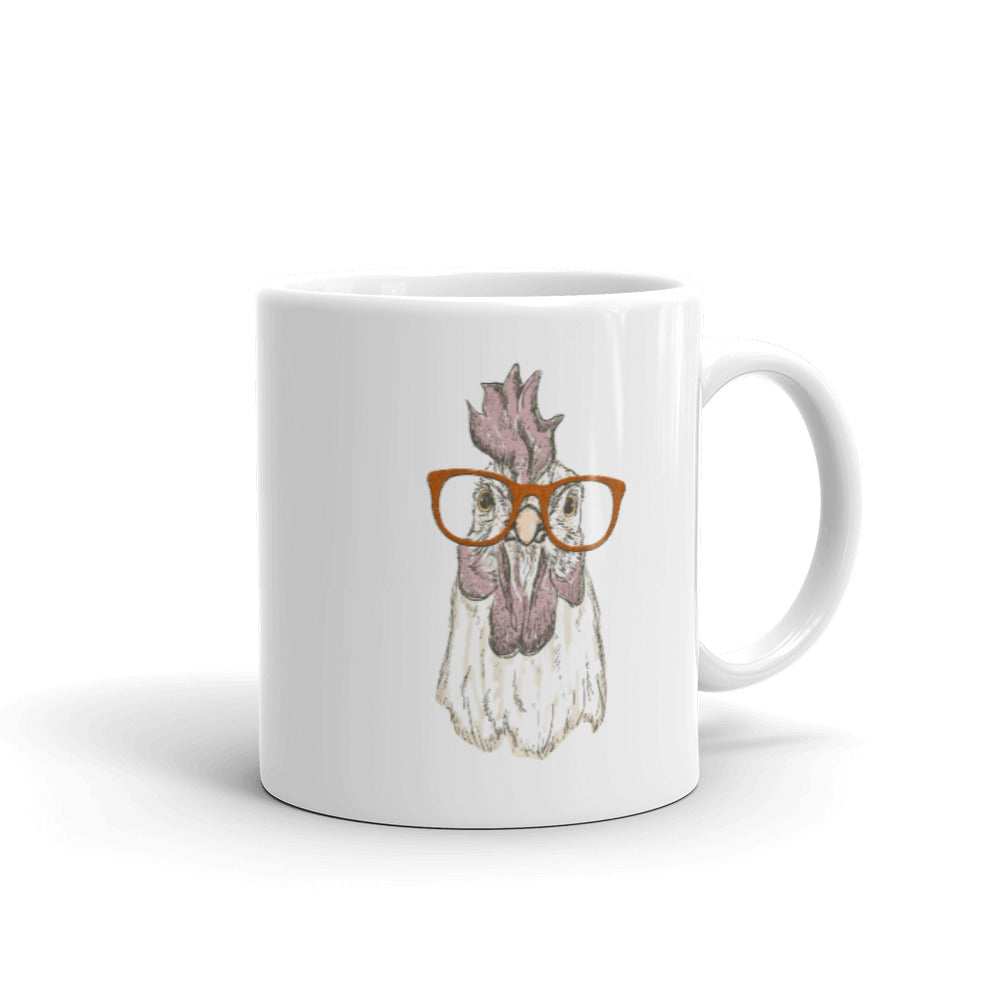 Chicken with Glasses Mug