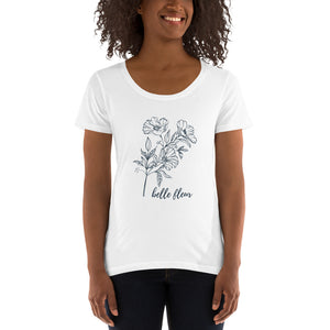 Belle Fleur Ladies' Scoopneck T-Shirt