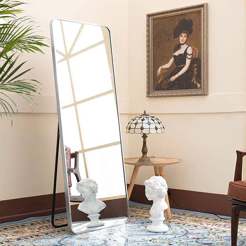 Bedroom Home Decor Gold BEAUTYPEAK Full Length Mirror 20 x 60 Standing Hanging or Leaning Against Wall Large Rectangle Floor Mirrors Body Dressing Wall-Mounted for Living Room