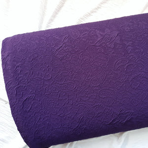 Solid Purple Embossed Knit|By the Half Yard