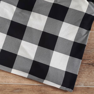 Double Brushed Poly Black Buffalo Plaid|By the Half Yard