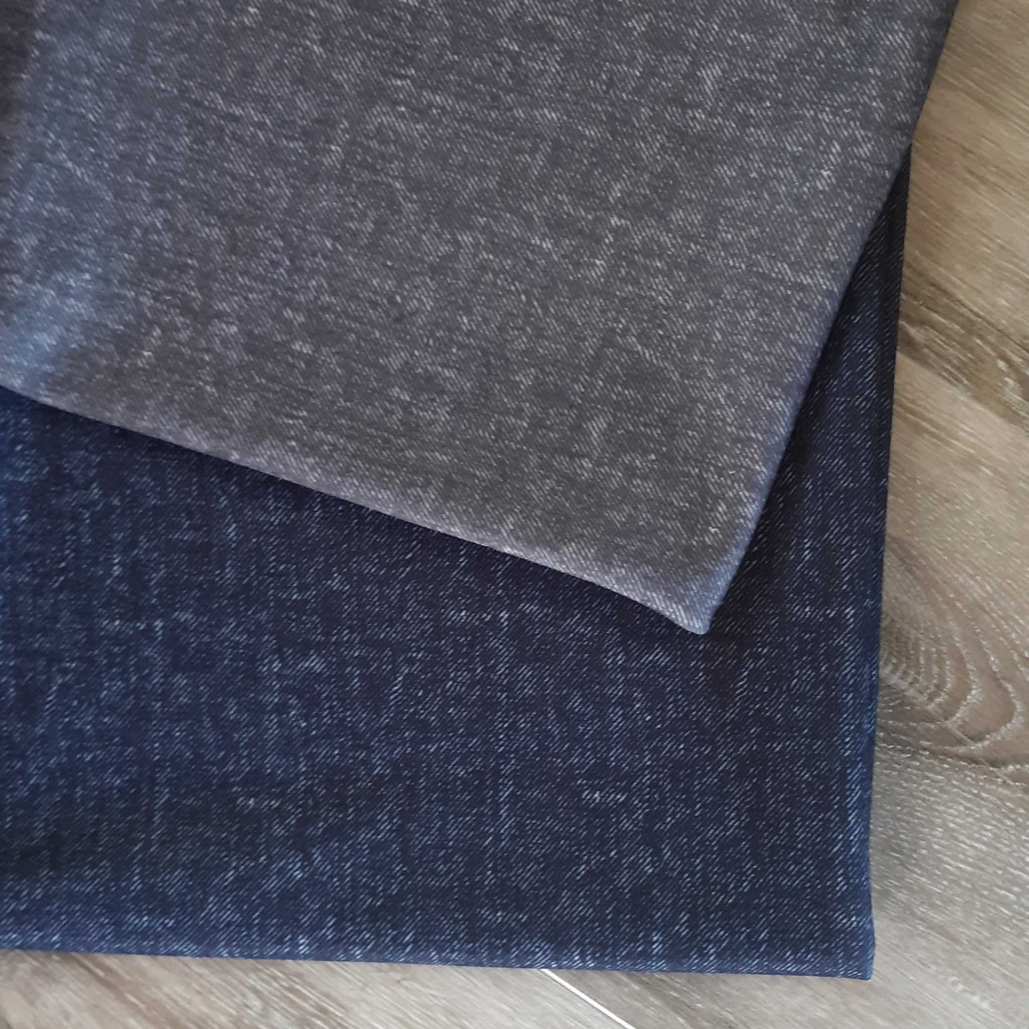 Denim Look Knit|Solids|By the Half Yard