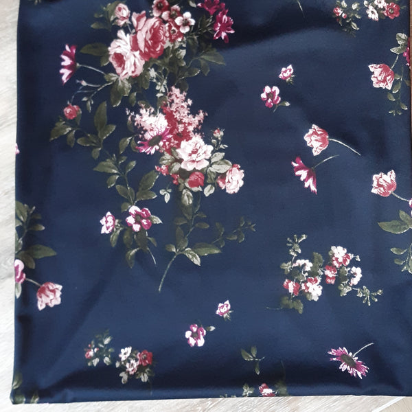 DTY Small Mauve Floral on Black| By the Half Yard