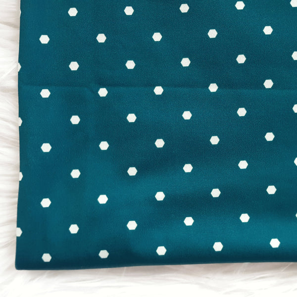 DTY Teal Hexagon Design | By the Half Yard