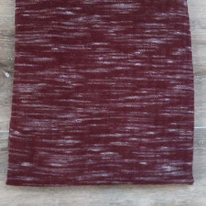 Heathered Burgundy Sweater/Rib Knit |By the Half Yard|Solids