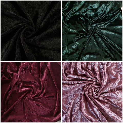 Stretch Velvet Solids |By the Half Yard