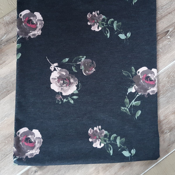 French Terry Knit Florals | By the Half Yard