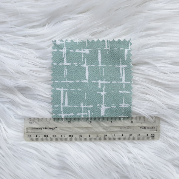 Broken Windowpane in Seafoam Liverpool Knit|By the Half Yard