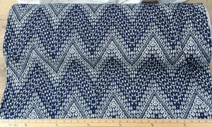 Navy Chevron Double Brushed Poly|By the Half Yard