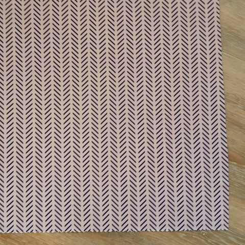 DTY Herringbone on Blush| By the Half Yard