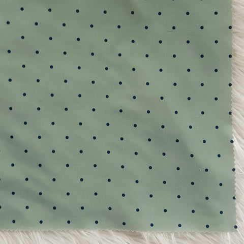 DTY Navy Dots on Seafoam| By the Half Yard
