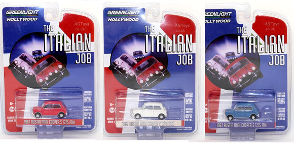The Italian Job Greenlight Collectibles Mini x3