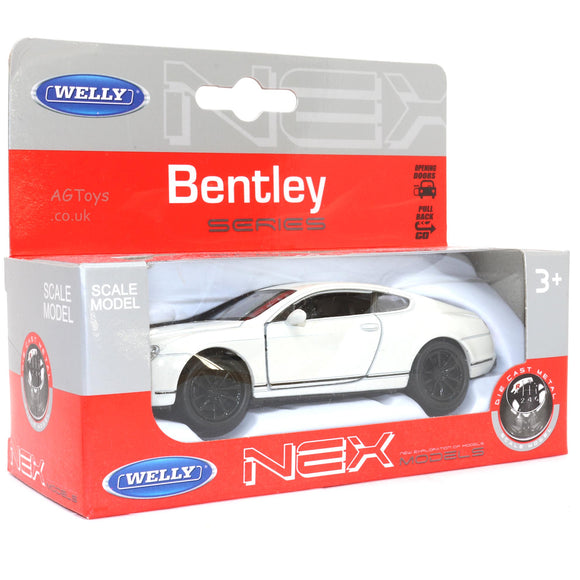 Bentley Series Pull Back and Go Small Scale 11cm Die-cast Metal Toy Car
