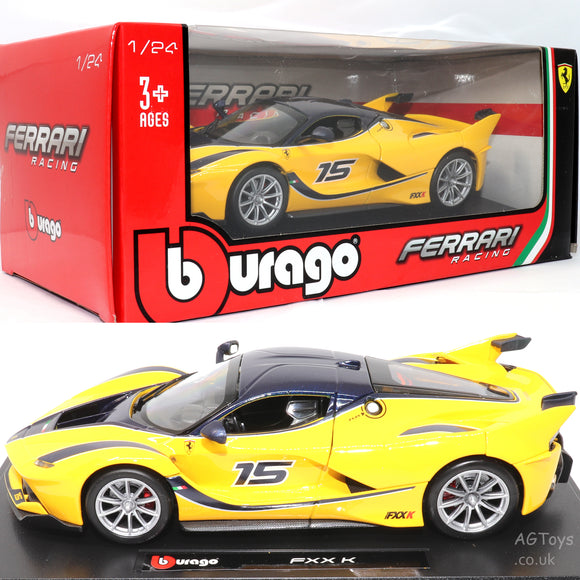 Ferrari FXX K Yellow 1:24 Scale Detailed Die-cast Model Car Bburago Racing