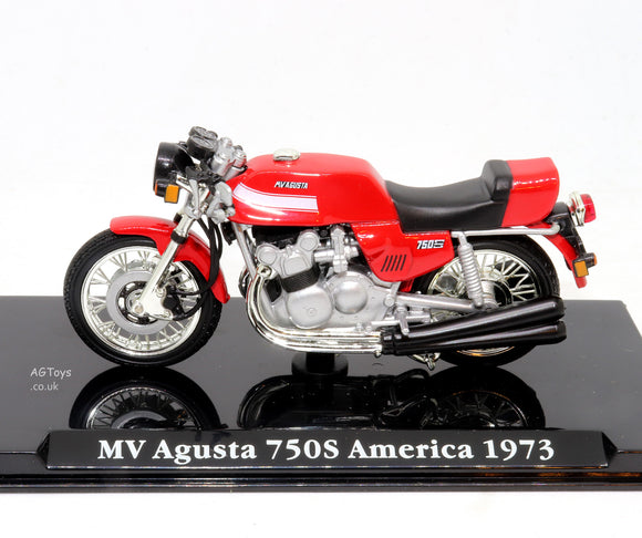 MV Agusta 750s America 1973 1:24 Scale Die-cast Model Motorcycle Motorbike by Atlas Editions