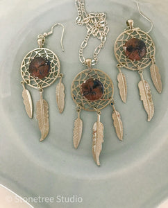 Agate Beach Necklace and Earrings Set