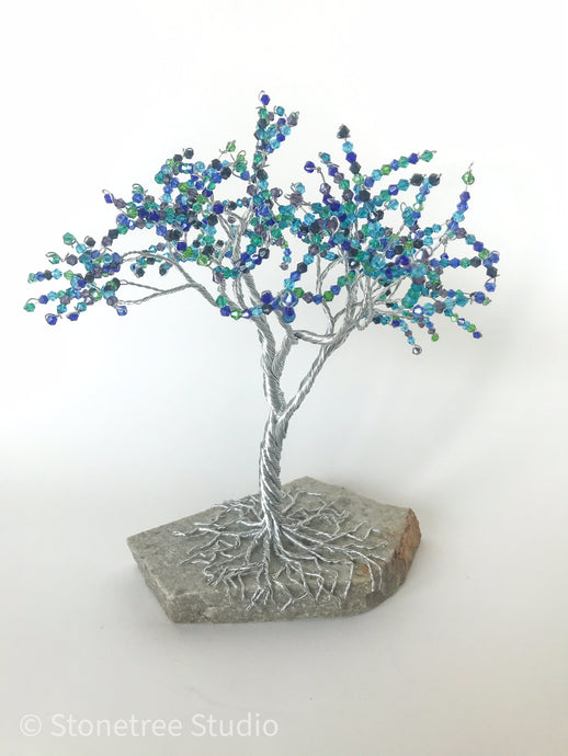 tree with blue foliage