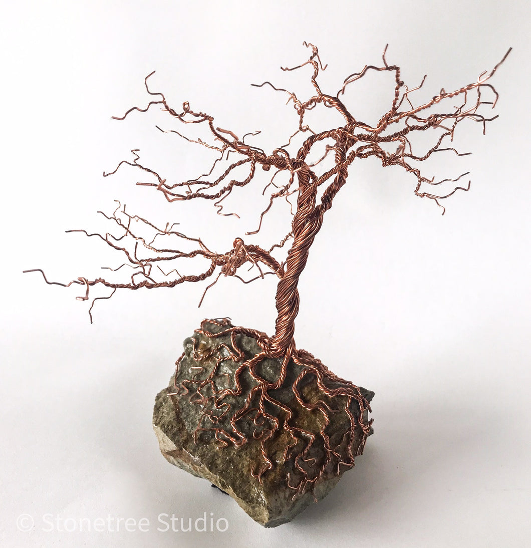 Bare tree in copper