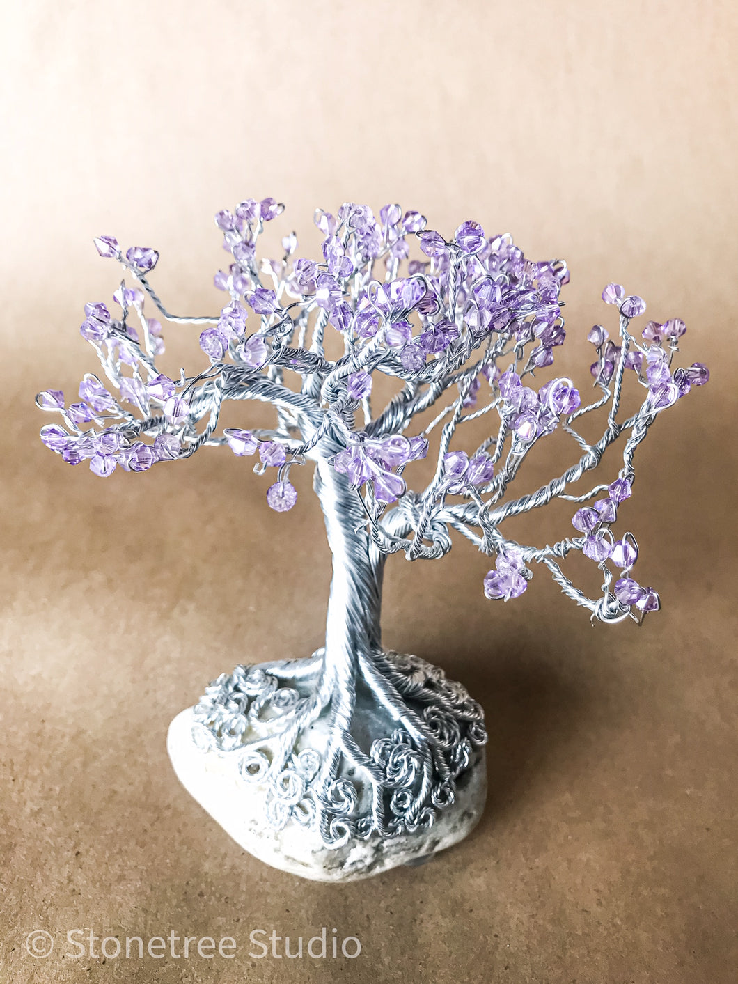 Lilac crystal tree