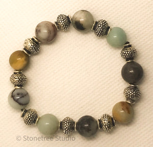 Yoga bracelet with Amazonite