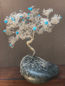 Crooked Tree with Turquoise Fruit