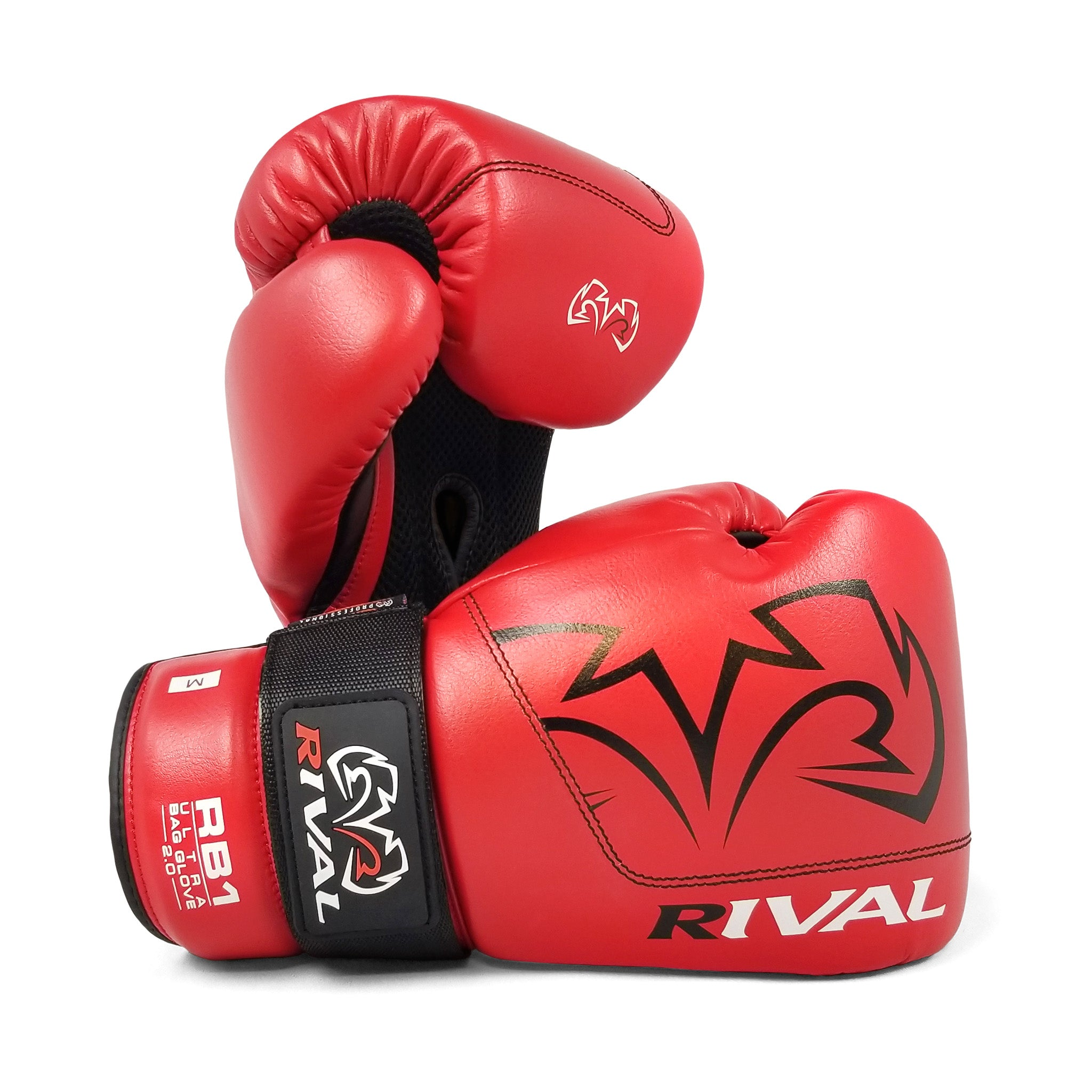 Rival Boxing RB1 2.0 Ultra Hook and Loop Bag Gloves White