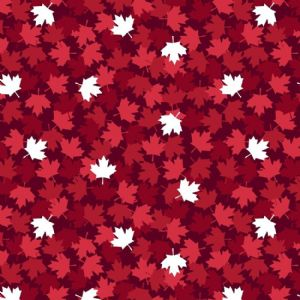 Canadian Christmas Red White Maple Leaves