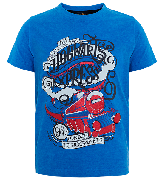 Kids Blue Hogwarts Express T-Shirt