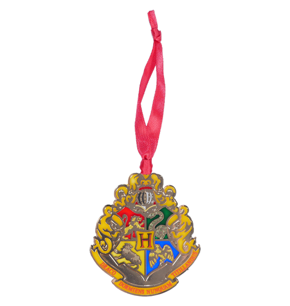 Hogwarts Crest stained Glass Ornament