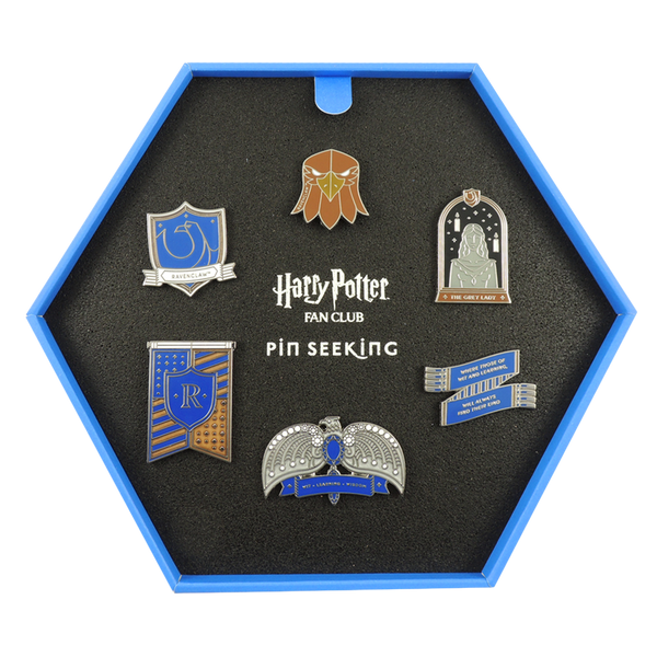 First Edition Ravenclaw Enamel Pins Set