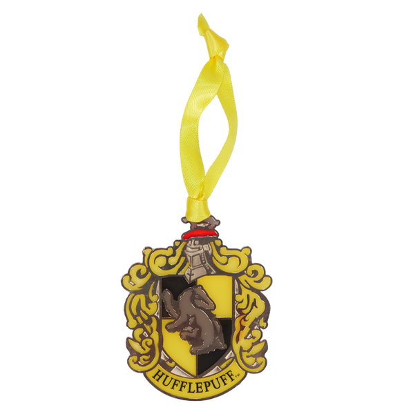 Hufflepuff Crest Stained Glass Ornament