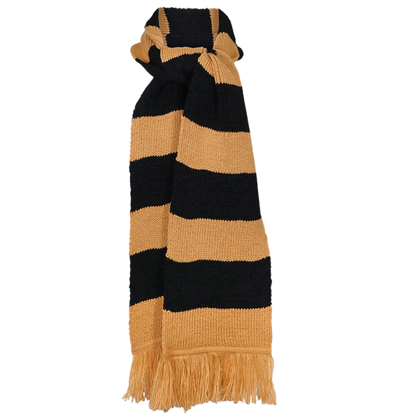 Hufflepuff Wide Stripe Scarf by Lochaven