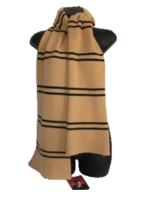 Authentic Lochaven Hufflepuff Narrow Stripe Scarf