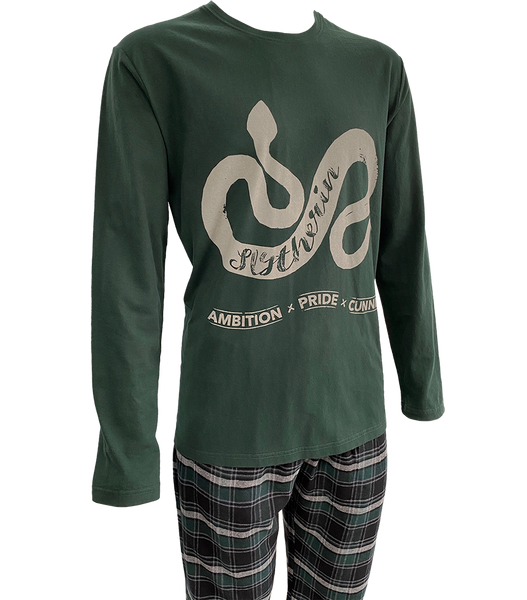 Slytherin Brushed Chequered Pyjamas