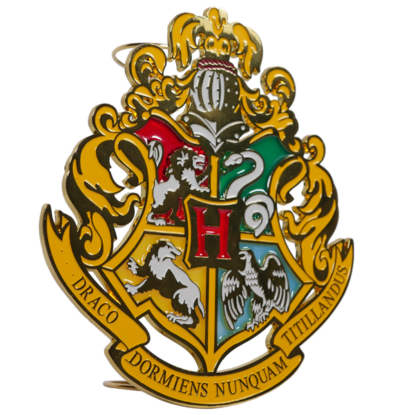 Hogwarts Crest Stained Glass Tree Topper