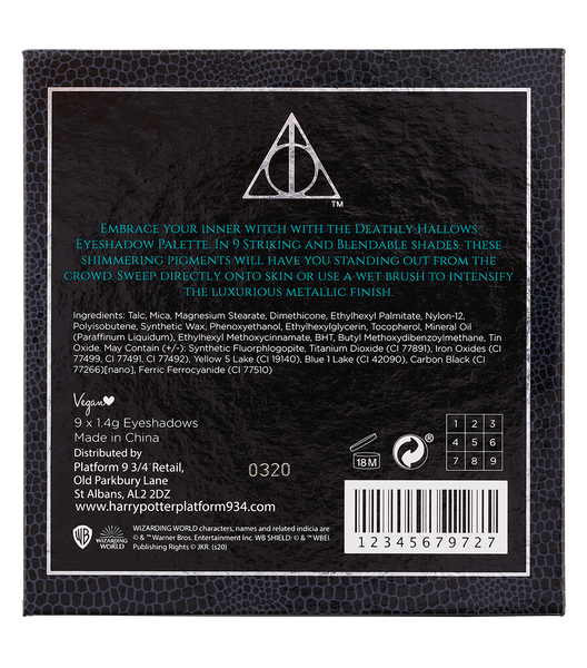 Deathly Hallows Eyeshadow Palette Details