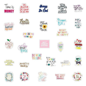 Inspirational Quotes Graffiti Stickers Pack - CoolSticker