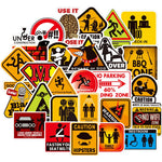 Prohibited Signs Stickers Pack (100PCs) - CoolSticker