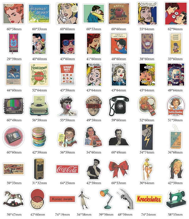 Vintage Poster Stickers Pack