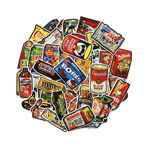 Vintage Food Stickers Pack