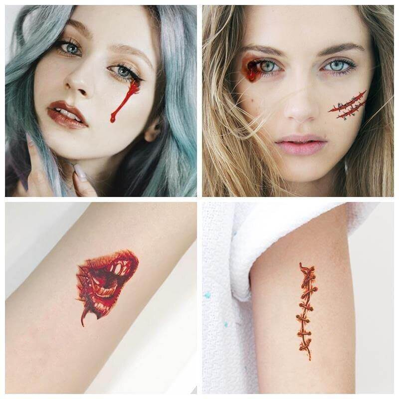 Halloween Tattoo Stickers Pack (30 PCs) - CoolSticker