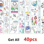 Cute Color Hand Tattoo Stickers Pack (40 PCs) - CoolSticker