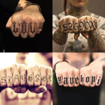 Black Letters Finger Tattoo Stickers (5PCS) - CoolSticker