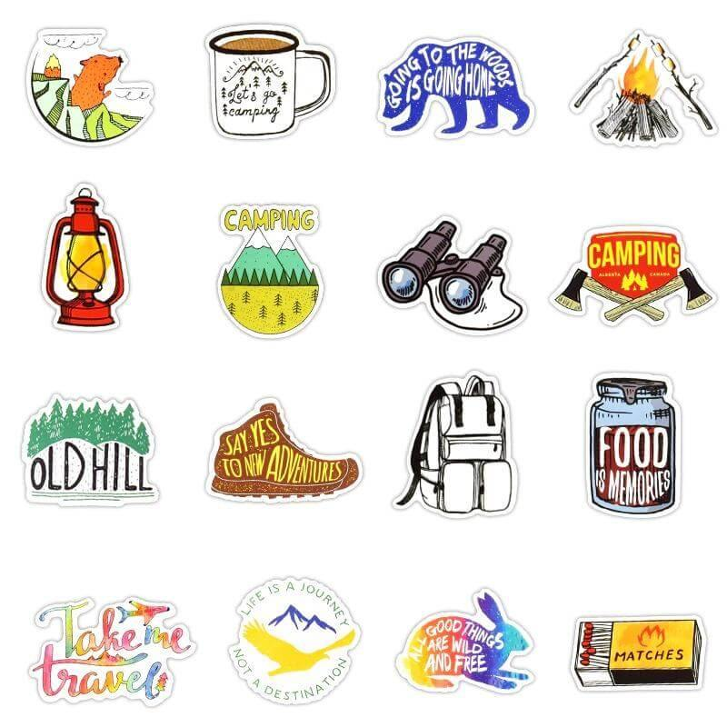 Camping Graffiti Stickers Pack - CoolSticker