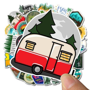 Cartoon Camp Outdoor Stickers Pack - CoolSticker