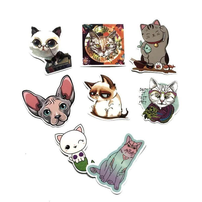 Cartoon Kitten Stickers Pack - CoolSticker
