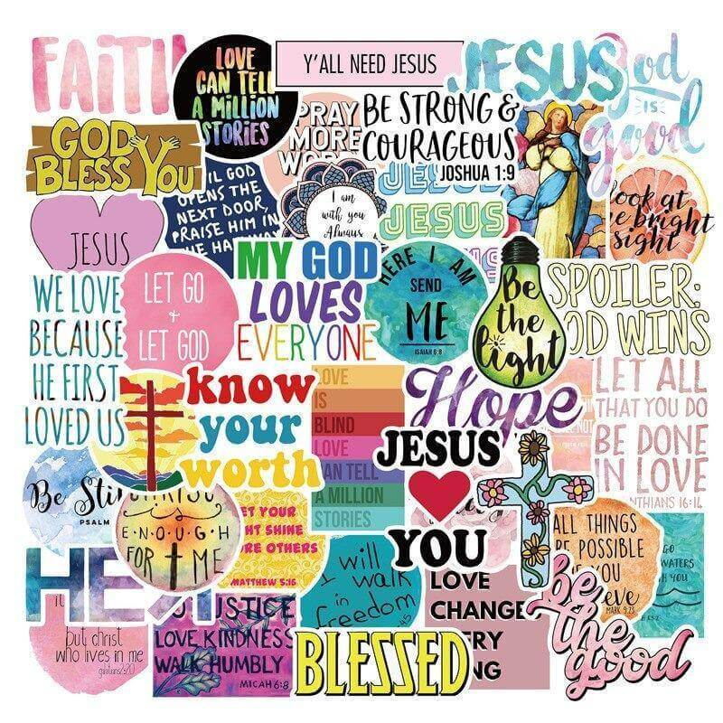 Jesus Christians Believe  Quotes Stickers Pack - CoolSticker