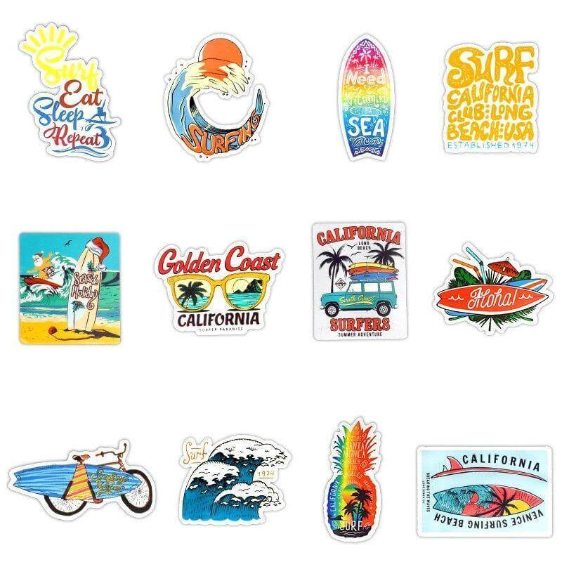 Outdoor Surfing Stickers Pack - CoolSticker