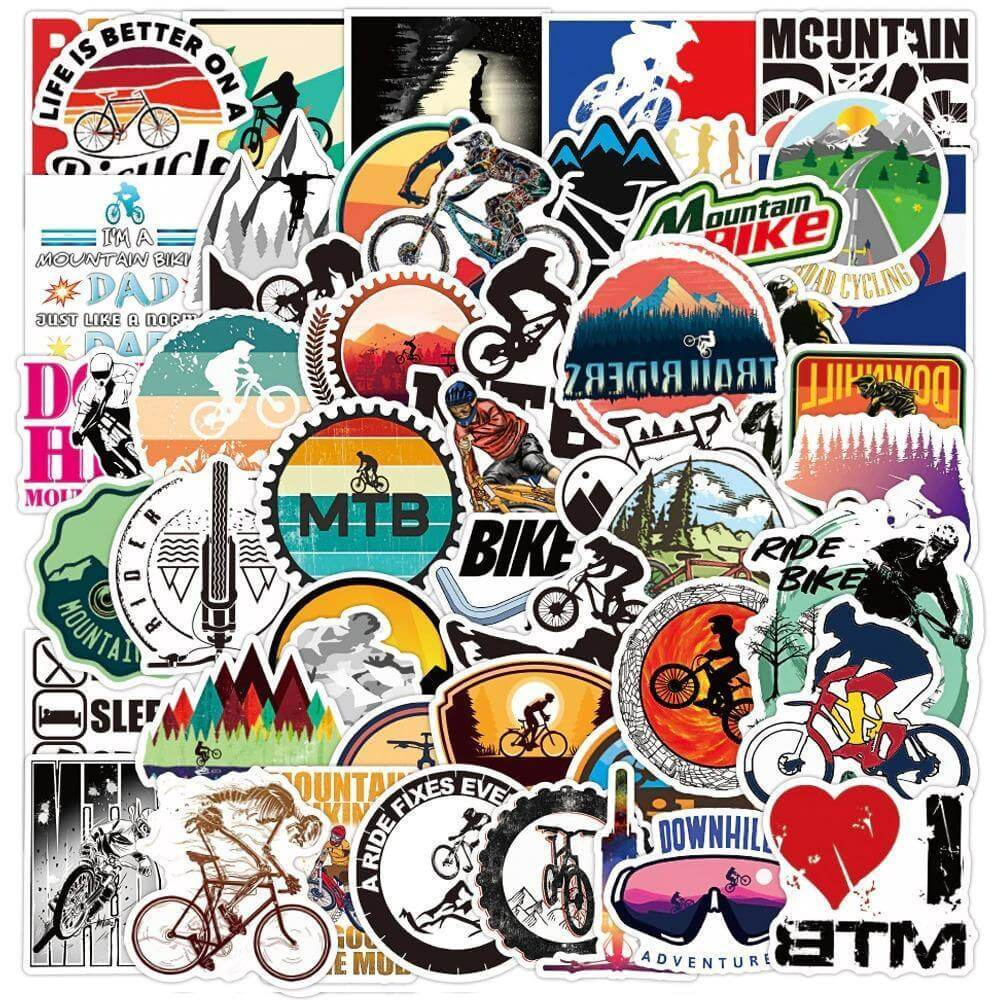Mountain Bike Stickers Pack - CoolSticker