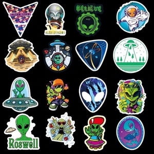 UFO Alien Stickers Pack